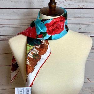Dolce & Gabbana Accessories - NWT $375 DOLCE & GABBANA Floral Square Silk Scarf
